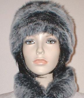 Arctic Wolf Faux Fur Hat
