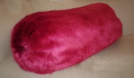 Hot Pink Mink Faux Fur Bolster
