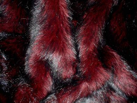 Tuscan Red faux Fur per meter