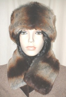 Golden Brown Chinchilla Faux Fur Collar