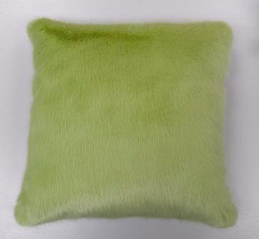 Pistachio Faux Fur Cushions 41 x 41cm