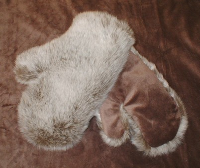 Koala Faux Fur Mittens