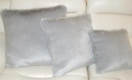 Silver Mink Faux Fur Cushion 51 x 51 cm