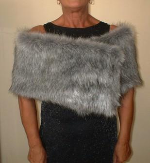 Silver Musquash Faux Fur Flapper