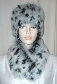 Winter Leopard Faux Fur Hat