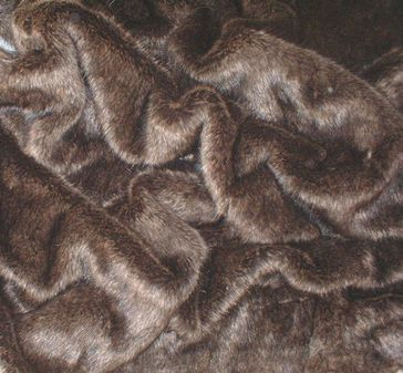 Brown Bear Faux Fur Fabric Per Meter