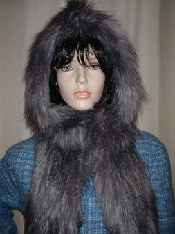 Siberian Wolf Faux Fur Hoodie