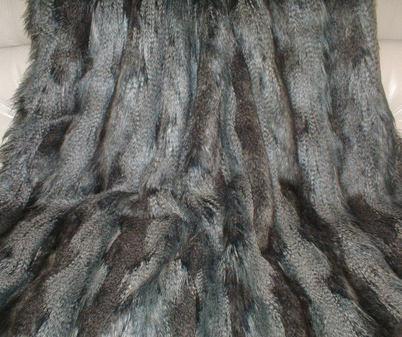 Grey Wolf Faux Fur per Meter