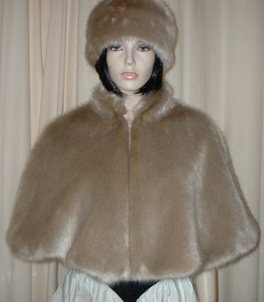 Honey Blonde Faux Fur Cape