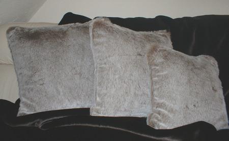 Koala faux Fur Cushion 20 x 20 inches. 51x 51 cm