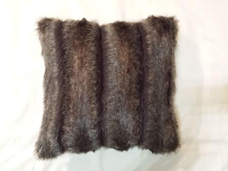 Rocky Mountain Faux Fur Cushion 41x41cm 16