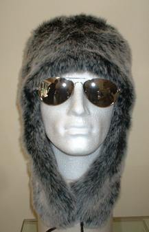 Arctic Wolf Faux Fur Trapper Hat