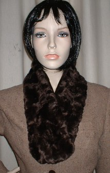 Chocolate Astra Faux Fur Neck Scarf