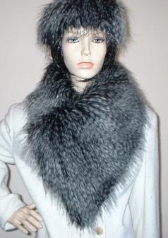 Porcupine Faux Fur Vintage Asymmetric Scarf