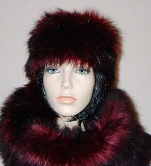 Tuscan Red Faux Fur Headband