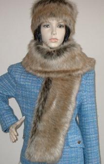Husky Faux Fur Scarf
