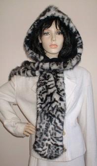 Panther Faux Fur Hoodie