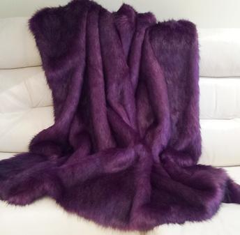 Royal Purple Faux Fur Fabric