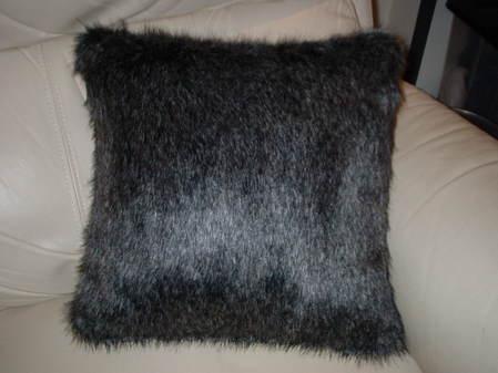 Wolfhound Faux Fur Cushion 16x16 inches