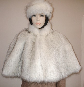 Alaska Faux Fur Cape