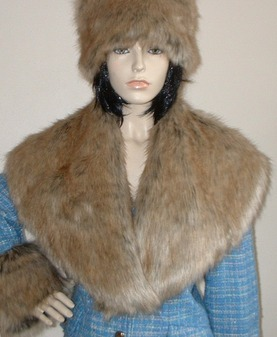 Husky Faux Fur Shawl Collar