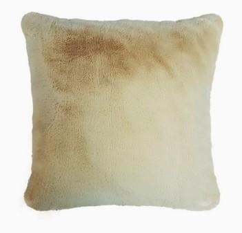 Almond Faux Fur Cushions