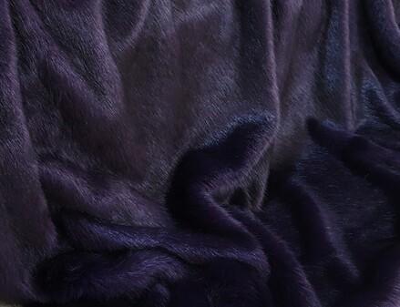 Amethyst Mink Faux Fur Fabric Per Meter
