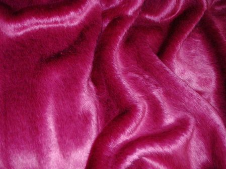 Hot Pink Mink Faux Fur per meter