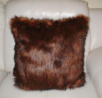 Red Fox Faux Fur Cushion 51x51cm (20
