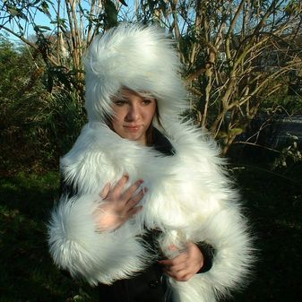 Polar Bear Faux Fur Scarf
