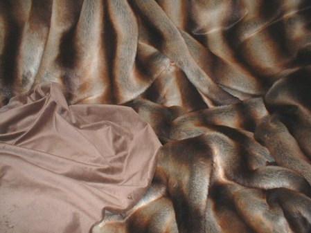 Golden Brown Chinchilla faux Fur Throw