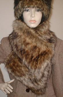 Simba Faux Fur Vintage Asymmetric Scarf