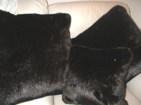 Mahogany Mink Faux Cushion 61 x 61 cm