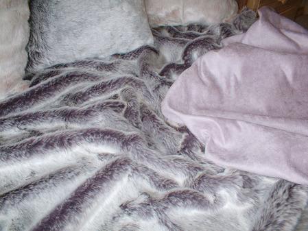 Lavender Faux Suede fabric per meter