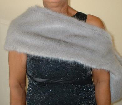 Silver Mink Faux Fur Fling