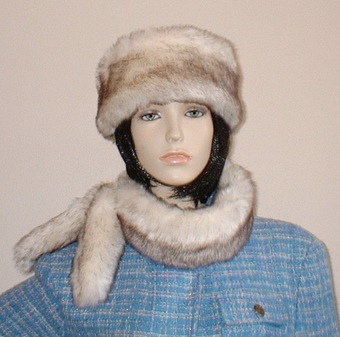 Polar Fox Faux Fur Slim Collar/Headband