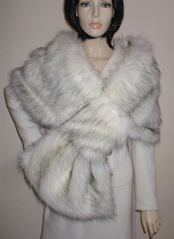 Alaska Faux Fur Pull Through Stole