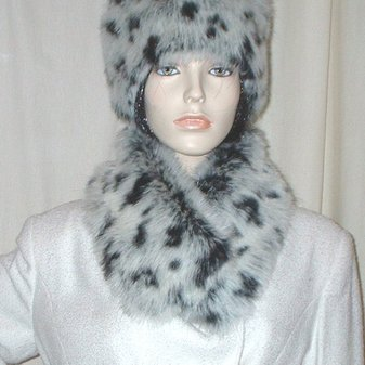 Winter Leopard Faux Fur Long Collar