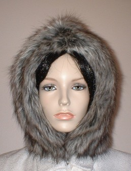 Timber Wolf Faux Fur Hood