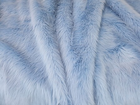 Baby Blue Faux Fur Fabric Per Meter