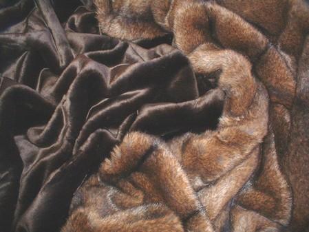 Chocolate Moleskin Faux Fur Fabric per meter