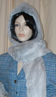 Tissavel Silver Sable Faux Fur Hoodie