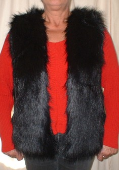Black Bear Faux Fur Gilet