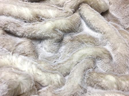 SECONDS Beige Frost Faux Fur Fabric Per Meter