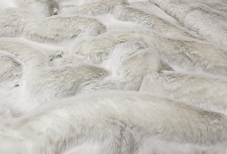 Beige Frost Faux Fur Throws