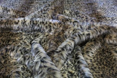 Beige Ocelot Faux Fur Swatch
