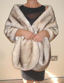 Polar Fox Faux Fur Long Stole