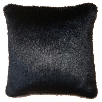 Black Mink Faux Fur Cushions