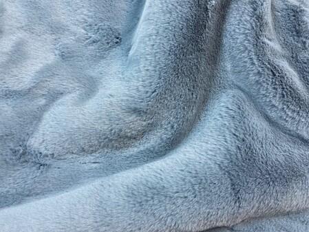 SECONDS Blue Softee Faux Fur Fabric Per Meter