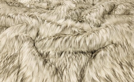 SECONDS Raccoon Faux Fur Fabric Per Meter